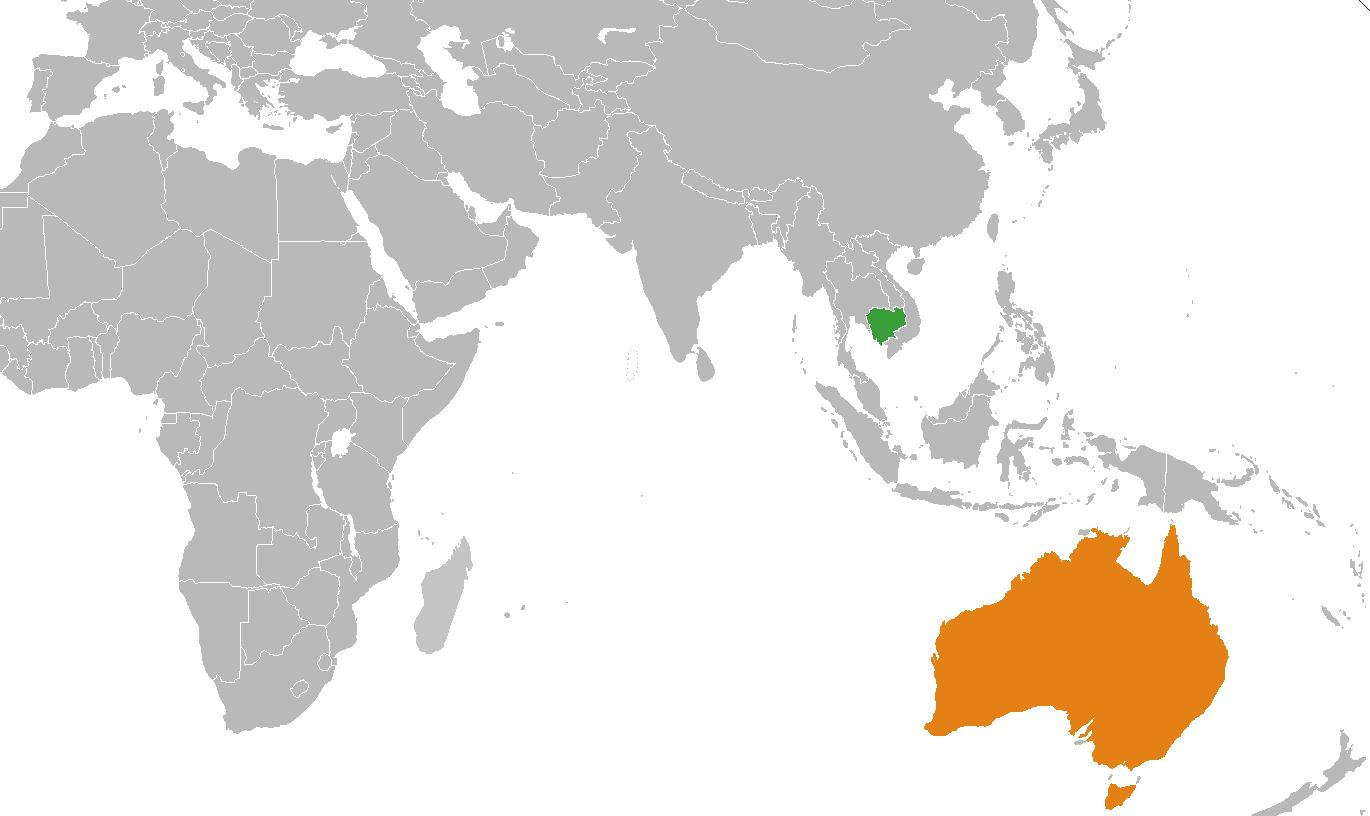 Cambodia location on world map - Cambodia map in world map ...