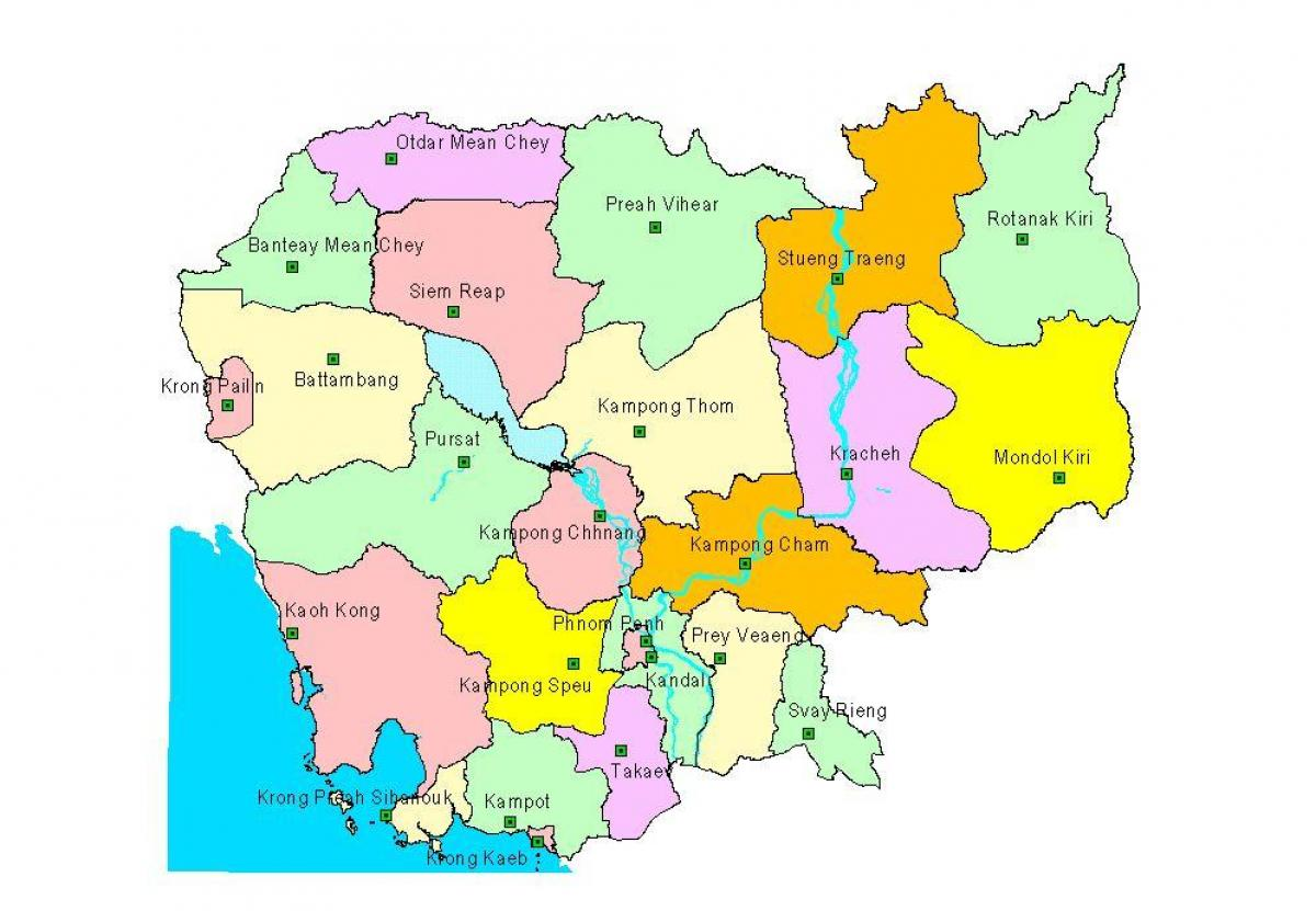Map of Cambodia provinces