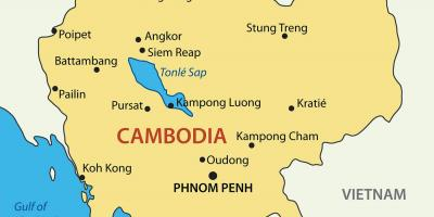 Cambodia cities map