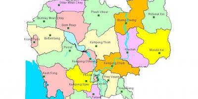 Cambodia - Kampuchea map - Maps Cambodia - Kampuchea (South-Eastern ...