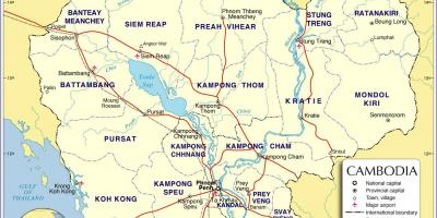 Map of Cambodia road