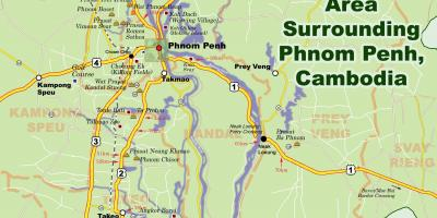 Map of phnom penh Cambodia