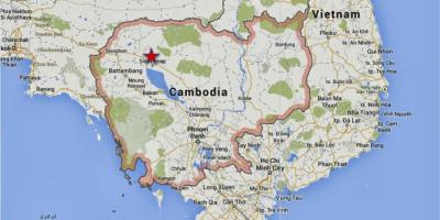 Map of siem reap Cambodia